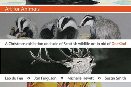 Charity puts on Scottish wildlife art exhibition to raise awareness of the plight of Scotland's animals.