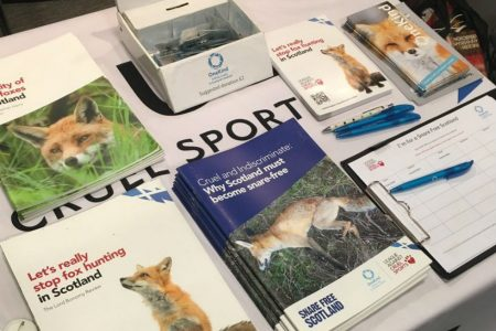 OneKind talks fox hunting and snares at the SNP conference